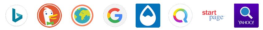 Logos applications moteurs recherche